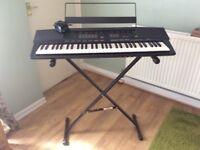 Yamaha keyboard with standi