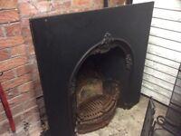 Victorian Edwardian fireplace set insert complete