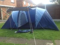 Brand New PRO ACTION 4 Man 2 Room Tent