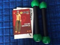 Zumba dvd and weights