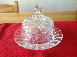 Pinwheel Crystal Butter Dish, $25.00 (Burlington).