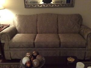 Beige Couch purchased at Lazy Boy with matching wing back chairs