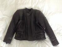 Leather motorbike jacket size 44