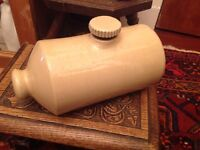 Antique stoneware hot water bottle
