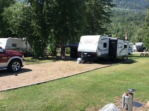 RV Lot for Sale on the Shuswap River near Enderby, BC