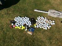 Golf balls & collector electric putter £10