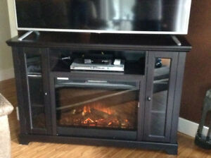 King wood Electric Fireplace/TV Stand