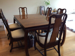 Beautiful Oriental Dining Set with 8 chairs