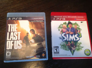 PS3 The Last Of Us and The Sims 3