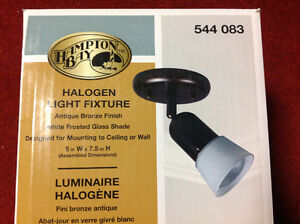 Halogen Light Fixture - BRAND NEW