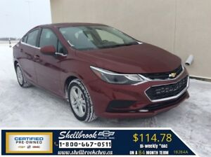 2016 Chevrolet Cruze LT- SUNROOF, HEATED SEATS - $114.78 BW!
