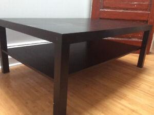 Table de salon Lack IKEA noire