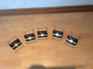 SILVER COLOUR METAL DISPLAY HOLDERS (NEW)