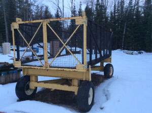 Heavy hay/log farm wagon