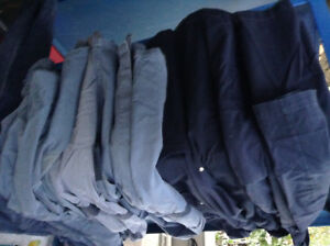 7 shop coats, 1 pair of coveralls --$30. For all