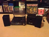 Steepletone Record Player with Subwoofer & Speakers