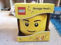 Lego storage head, boy, large