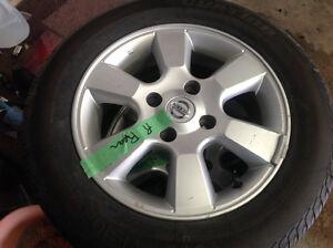 "4 - 185/65/15"" new tires & Nissan Alloy Rims"