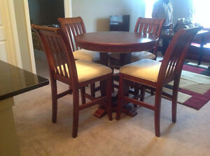 Dining Table with 4 Chairs ( Solid Wood )