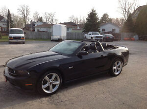 2012 Mustang GT Convertible Beautiful Triple Black