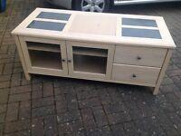 solid limed oak tv stand (cabinet)