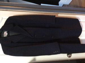 Men's wool navy 44 short top coat