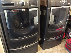 Washer and Dryer with Stands