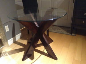 """36"""" Glass Top DInning table ,Small space Perfect!"""