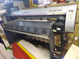 Mimaki cjv30-160 flatbed printer with continuous ink system
