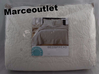Martha Stewart Collection Lush Embroidery Queen Bedspread Ivory