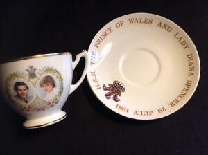 Limited Edition Lady Diana/Charles wedding tea cup and saucer