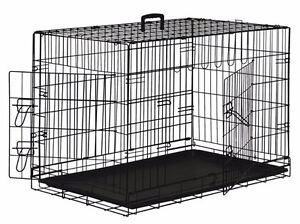 Larger Black metal wire dog crate