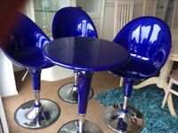 Retro table & 3 chairs - height high or low - needs some tlc