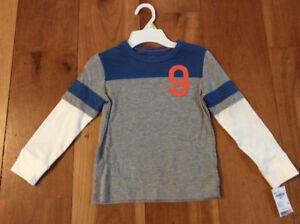 New! Osh kosh long sleeve shirt size 4