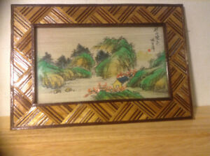 Chinese Antiques Painted on Bamboo