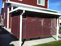 Privacy/Shade screens & Roll ups