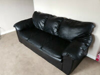 Black leather couch $300 OBO