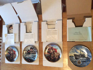 Royal Canadian Navy plates collector WWII collectables RCN