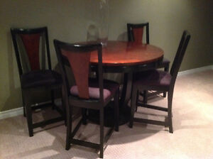 Bistro round table and four chairs Peterborough Peterborough Area image 1