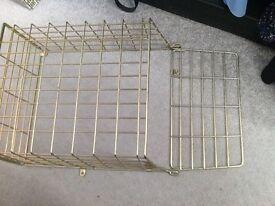 Large brass post basket post cage