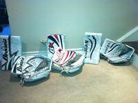 Vaughn and Brian's senior goalie gloves