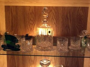 Italian Decanter with 6 whisky glasses