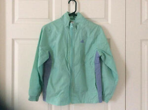 Adidas Mint and Blue Windbreaker Girl's Jacket