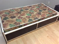 Like new ikea twin bed with drawers