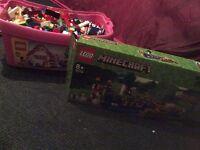Lego box and Minecraft set