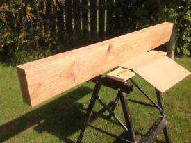 "Solid oak beam, fireplace / mantel 4ft 8"""