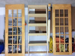 4 portes vitrées en bois