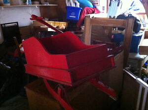 Vintage Open Sleigh Ride for child winter decor