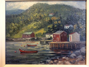 Original signed oil on board painting by NS artist H.N. Beaton