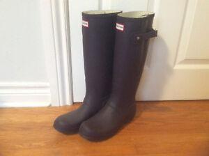 Hunter Rain Boots - wide calf - size 7